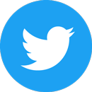 Twitter Social Icon Circle Color 130px